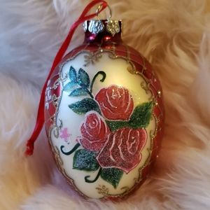 Other - Glass Rose Ornament